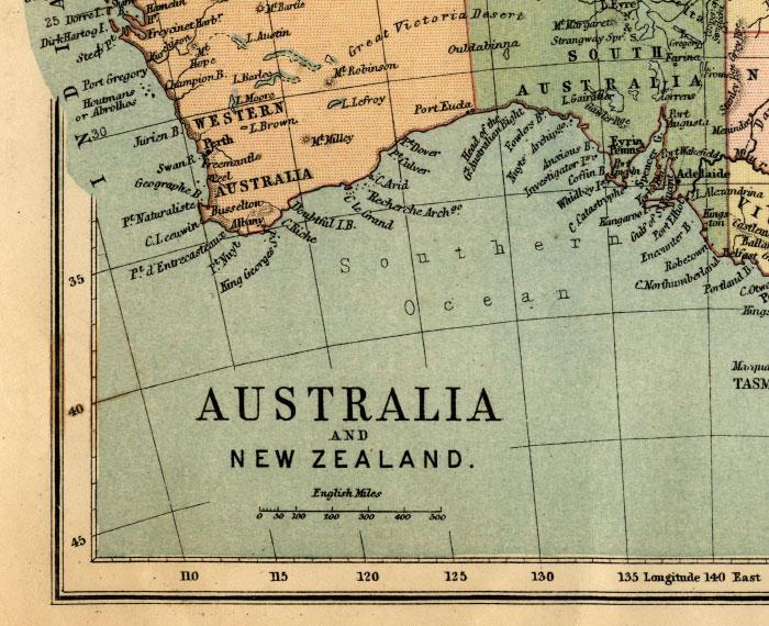 southwest australia map