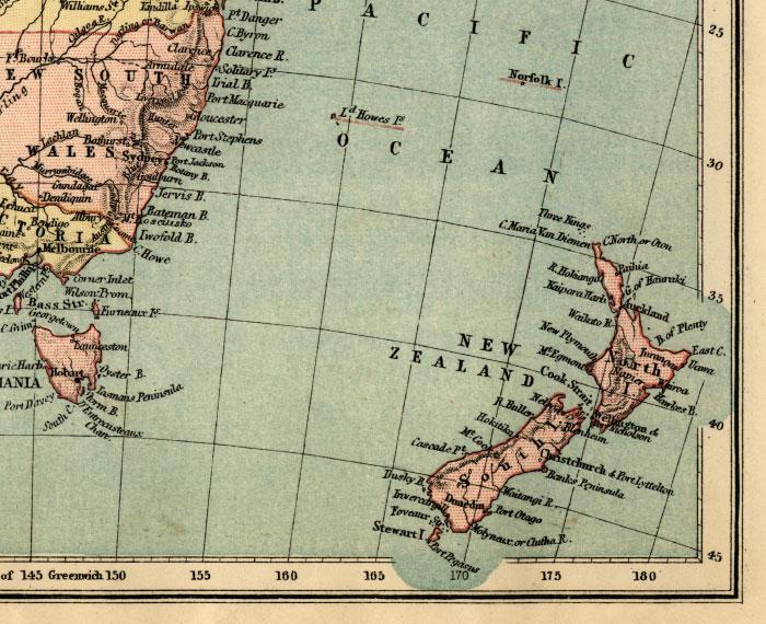 southeast australia map